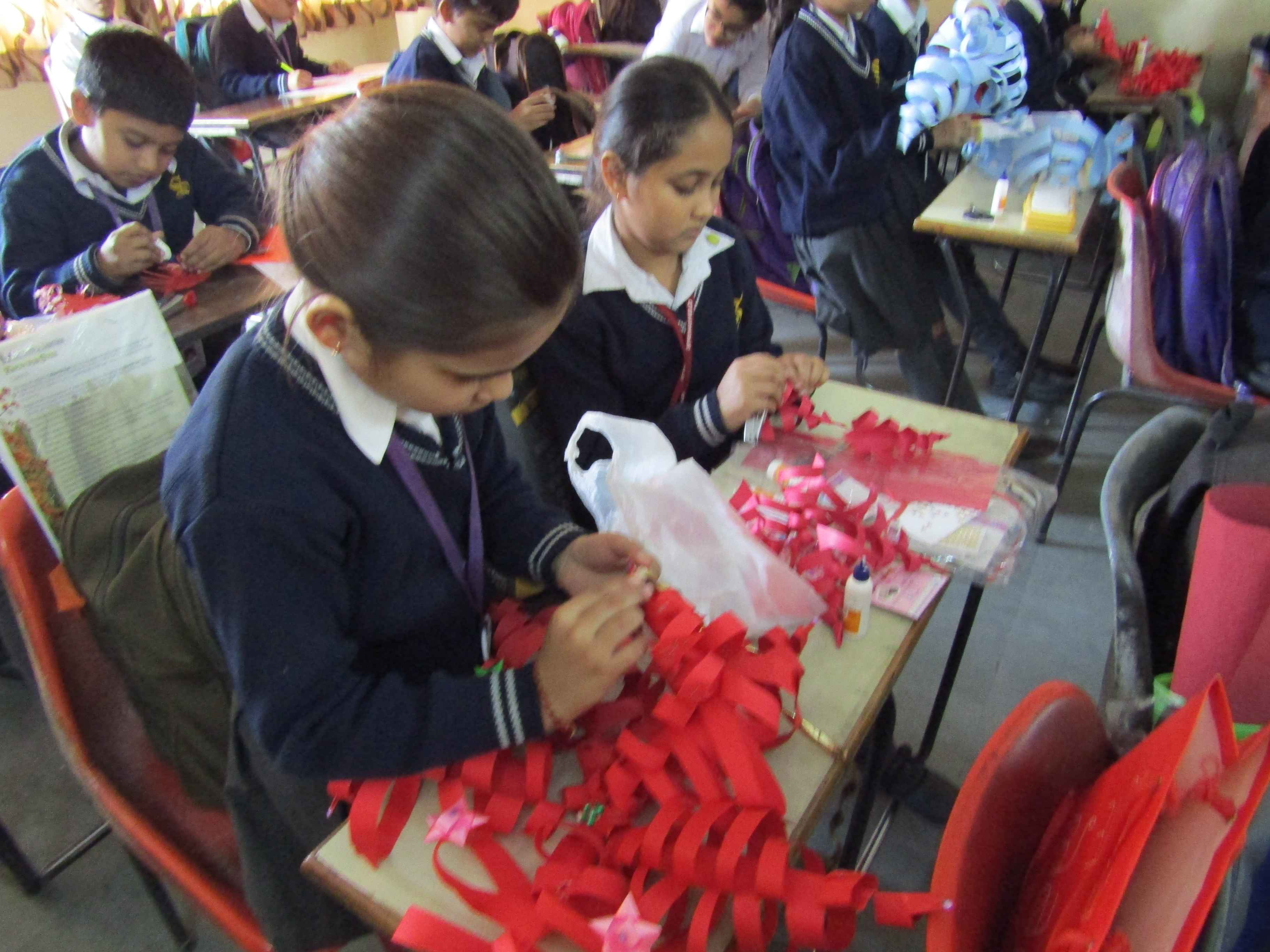 Snow Flake making activity (Standard IV)