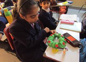 Wreath making activity (Standard III)