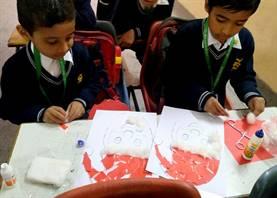 Std. I : Santa Claus Mask Making Activity