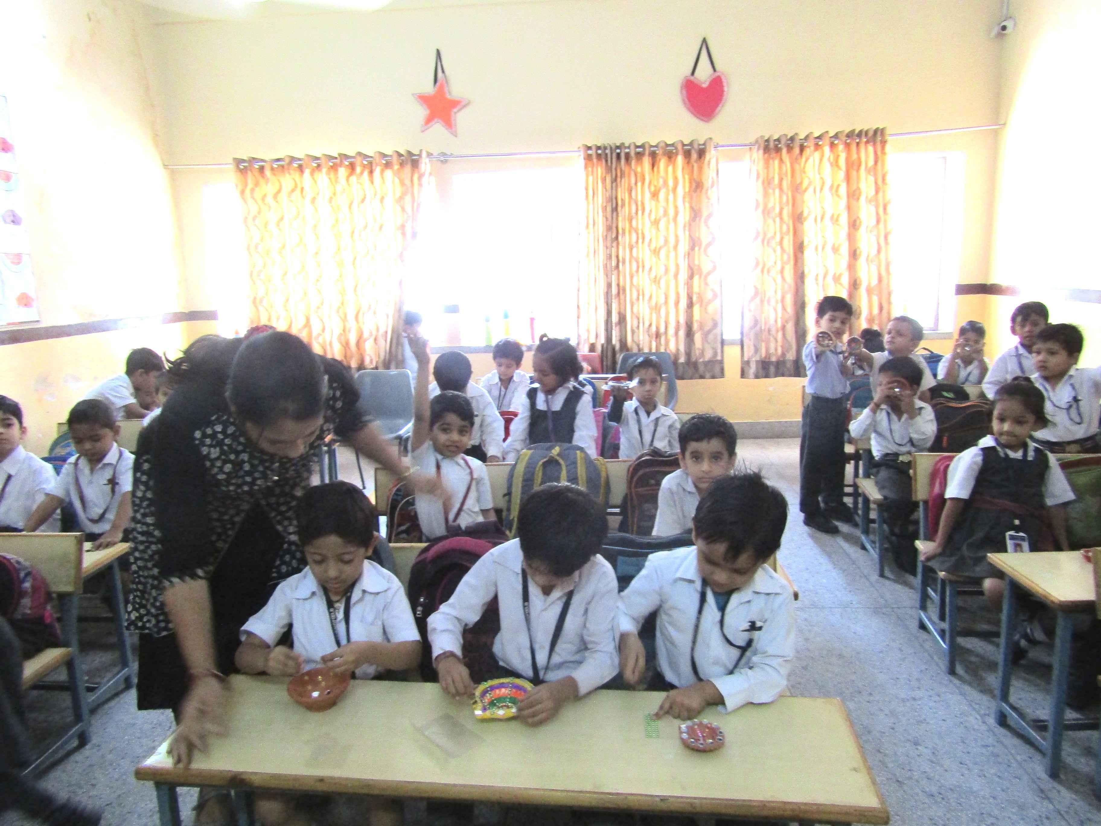 Diya Decoration Pre-Primary Activity