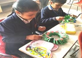 Std. III : Wreath Making Activity