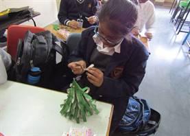 Christmas Tree making activity (Standard V)