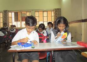 3-D Candle making activity (Stds. I & II)
