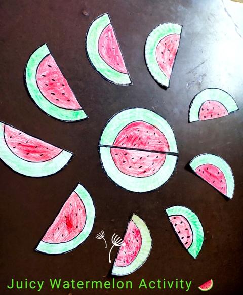 Pre-primary: Juicy Watermelon Activity