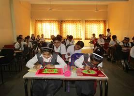 Rangoli making activity (Standard IV)